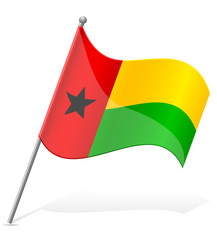flag of Guinea-Bissau vector illustration