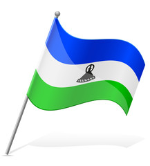 flag of Lesotho vector illustration