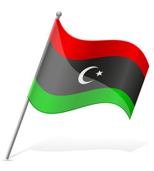 flag of Libya vector illustration