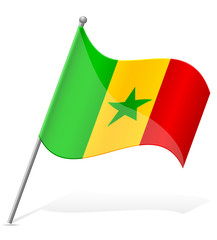 flag of Senegal vector illustration