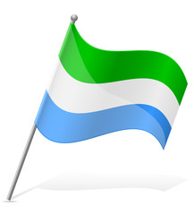 flag of Sierra Leone vector illustration