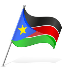 flag of South Sudan vector illustration