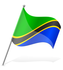 flag of Tanzania vector illustration