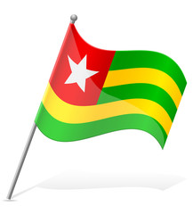 flag of Togo vector illustration