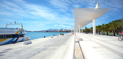 View of the promenade of Málaga