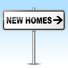 Vector new homes sign