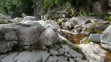 River flow in Peneda Geres National Park in Portugal