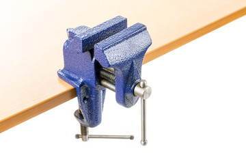 Vice clamp on bench