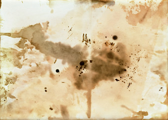 old dirty paper with blots