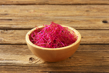 Beetroot sprouts