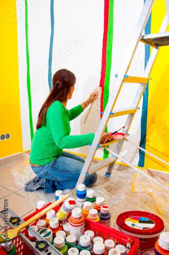 canvas print picture Malerarbeiten