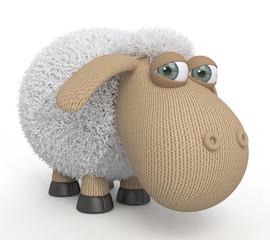 3d ridiculous sheep.