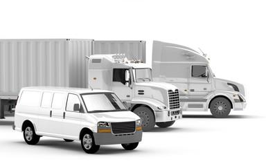 Transporte. Camiones Americanos
