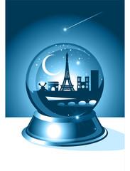 Paris Christmas Skyline