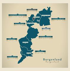 Moderne Landkarte - Burgenland AT