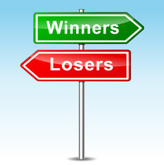 Vector winners ans losers signs