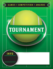 Tennis Tournament Template Illustration