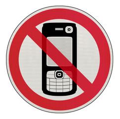 panneau interdiction de téléphoner