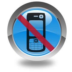 téléphone interdit sur bouton