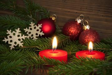 Candles Lighting Christmas Background Szene