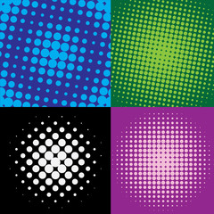 colorful  halftone dots, vector illustration