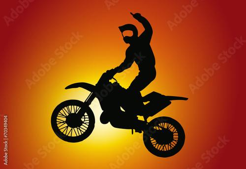Fototapeta Motocross Silhouette