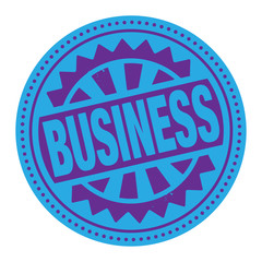 Abstract stamp or label with the text Business