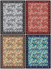 Carpet design in various colors