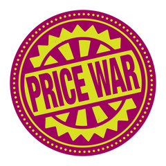 Abstract stamp or label with the text Price War