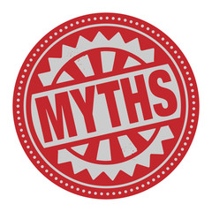 Abstract stamp or label with the text Myths