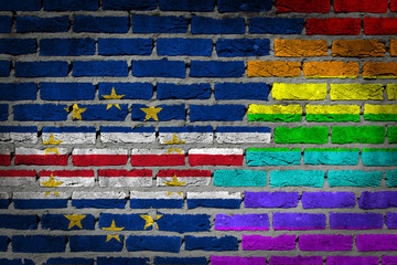Dark brick wall - LGBT rights - Cape Verde