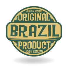 Abstract stamp with text Original Product of Brazil
