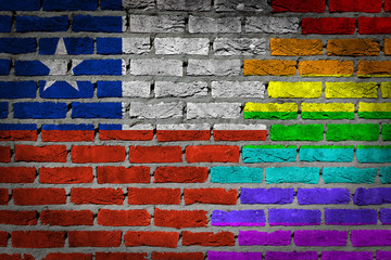 Dark brick wall - LGBT rights - Chile