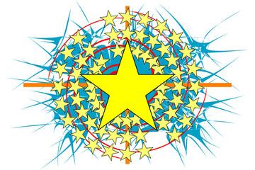 Estampa Estrela