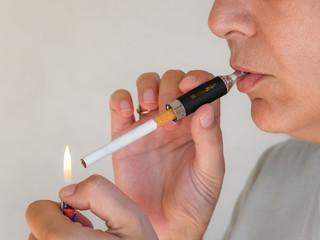 Fumatore di sigaretta concettuale