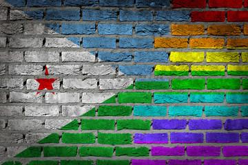 Dark brick wall - LGBT rights - Djibouti