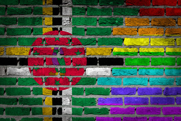 Dark brick wall - LGBT rights - Dominica
