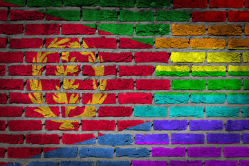 Dark brick wall - LGBT rights - Eritrea