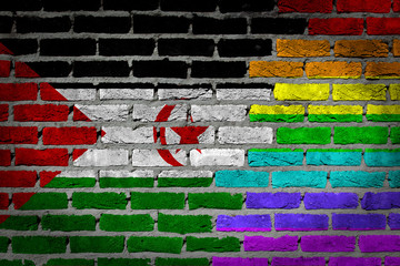 Dark brick wall - LGBT rights - Western Sahara