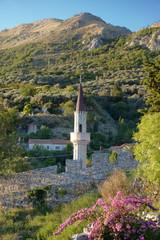 Minaret In Stari Bar, Montenegro