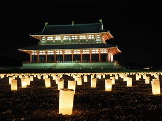 Daigokuden Hall of Heijo Palace in Nara, Japan
