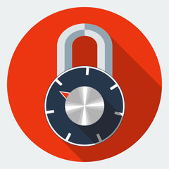 Vector combination padlock icon