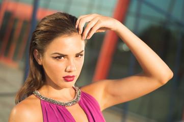 Fashion posing girl