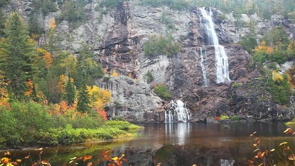 Bridal Veil Falls is found in Agawa Canyon in Ontario, Canada.