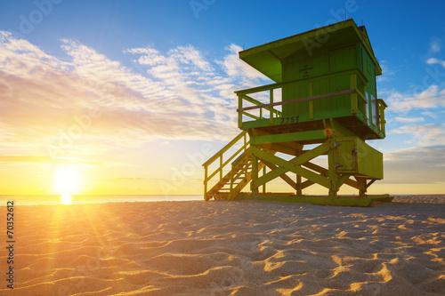 canvas print picture Miami South Beach sunrise
