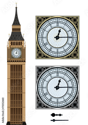 Fototapeta Landmark Big Ben and the clock