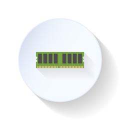 RAM memmory flat icon