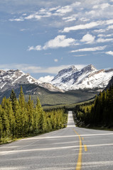 Road to Nowhere, Icefields Parkway, Alberta, Canada.
