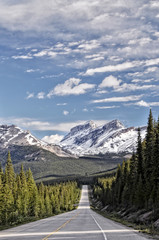 Road to Nowhere, Icefields Parkway, Alberta, Canada
