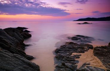 Beautiful sunrise in lake
